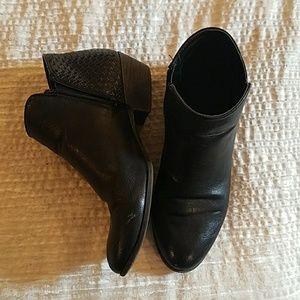 Booties with heel weave detail